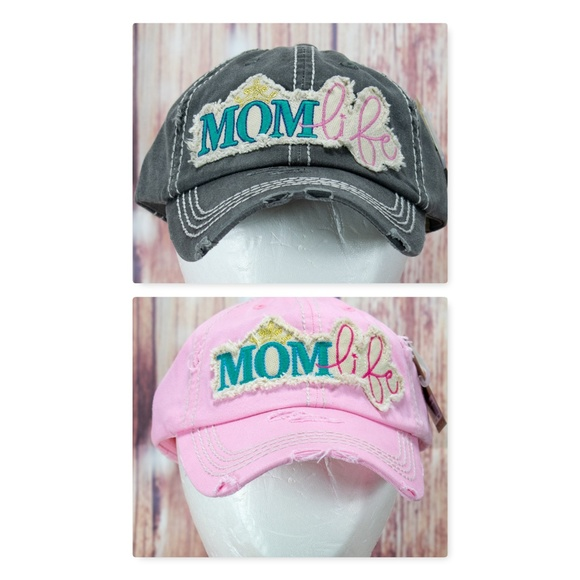 f46bb6efad7 Womens Mom Life Pink OR Faded Black Distressed